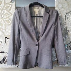 H&M Cotton Blazer Jacket Gray 4 Small